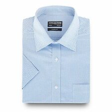 The Collection Mens Big And Tall Light Blue Gingham Checked Print Shirt