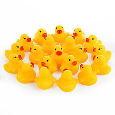20Pcs Cute Squeaky Ducks Baby Kids Children Water Bathing Beach Fun Toys Exotic