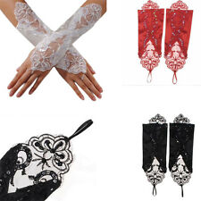 Beautiful New 1 Pair Fingerless Gloves  Flower Gloves Sparking Lace Long Gloves