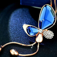 Crystal Quality 1 PC Butterfly Accessories Chain Sweater Fashion Female Necklace