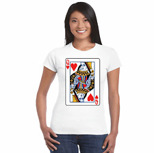 QUEEN OF HEARTS, FANCY DRESS, FUNNY, T SHIRTS, TEES, COSTUMES, ROYALS, CARDS,