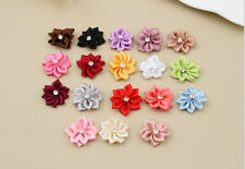 Craft/Trim Flower with Crystal Appliques Bead 50PCS DIY 2016 Satin HOT Ribbon