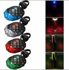 Safety Lamp Light 5 LED+ 2 Laser Cycling Flashing Bicycle Warning Rear Tail