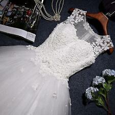 2017 New White/Ivory Wedding Dress Bridal Bride Gown Custom Size 6-8-10-12-14-16