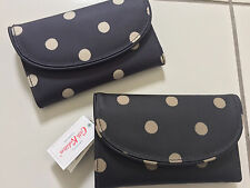 Cath Kidston Folded Curve Wallet  Button Spot, Choice of 2 Colours BNWT