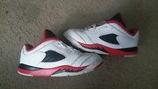 """Air Jordan 5 V Low """" Fire Red Black White """" Size 10c ( Kids Youth )"""