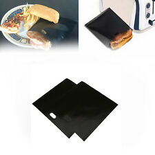 2Pc/pack Reusable Toaster Bags Toastie Sandwich Pizza Pitta Pockets Black/Beige