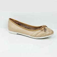WOMENS LADIES SCHOOL WORK FLAT SLIP ON BALLERINA PUMPS LOAFERS SHOES SIZE 3-8