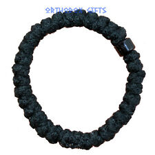 Woollen Black Bead Komboskini Prayer Rope Bracelet Greek Orthodox,Russian Chotki