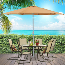 Patio Umbrella 9 Ft Foot Aluminum Patio Market Umbrella Tilt Crank Outdoor New