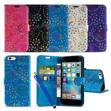 Apple iPhone 6s (4.7 inch) - Textured Diamond Flower Wallet Case Cover &Pen