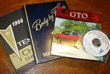 1966 66 Pontiac Chassis & Body & Parts Shop Manuals GTO Lemans Tempest Custom