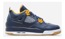 NEW NIKE Air Jordan 4 Retro BG LTD Dunk from Above Shoes Sneaker blue 408452 425
