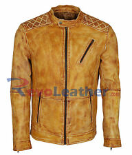 Antique Designer Vintage Waxed Biker Leather Motorcycle Slim fit Jacket
