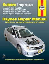 Haynes Workshop Manual Subaru Impreza 2002-2014 Impreza Outback GT WRX STI