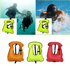 New Adults Inflatable Life Jacket Vest for Snorkeling Surfing Boating Swimming