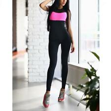 Ladies Yoga Jumpsuit Running Tights for Workout Athletic Clothes Pants