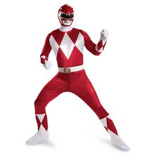Adult TV Show Mighty Morphin Power Rangers Red Ranger Super Deluxe Fight Costume