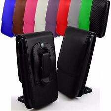 """For Xolo A1010 (5"""") Leather Magnetic Flip Belt Clip Hip Case Pouch Holster"""
