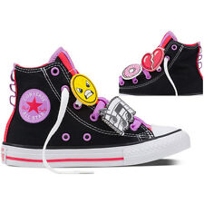 Converse Chuck Taylor All Star Loopholes Junior Black Textile Trainers