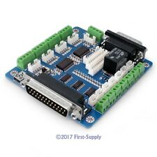 5 Axis Cnc Breakout Board Interface Adapter Fr Stepper Motor Driver + Db25 Cable