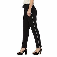 The Collection Petite Womens Black Tapered Piped Petite Trousers From Debenhams