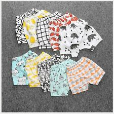 Kids Baby Boys Girls Printed Elastic Harem Pants Toddler Shorts Trousers Clothes