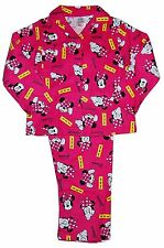 Girls Disney Minnie Mouse Pyjamas Winceyette Flannelette 3-4 to 9-10 Years