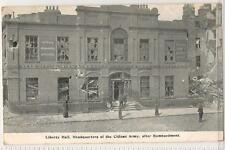 Postcard (Hely's Limited, Dublin) Liberty Hall, Citizen Army, after Bombardment