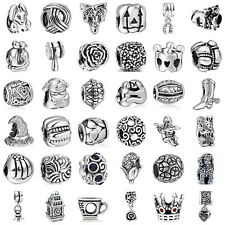 European Sterling 925 Silver Charms Beads for Lot Jewelry Bracelet Necklace US12