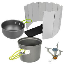 Outdoor Cooking Picnic Cookware Burner Folding Gas Stove Wind Shield Screen