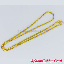 """22K 23K 24K Thai Baht Gold Plate 20"""" Necklace 5 grams GP Yellow Chain Jewelry"""