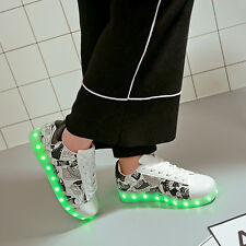 Luminous Led shoes Usb Charge lights up Men's neon casual shoes