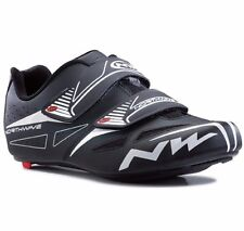 Northwave Jet Evo MENS ROAD CYCLING SHOES Nylon Sole BLACK-Size 41, 42, 43 Or 44