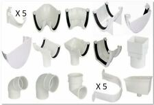 White Half Round 112mm Gutter & 68mm Down Pipe Fittings