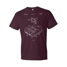 Super Nintendo SNES Video Game System T-Shirt Patent Art Gift Super Nes