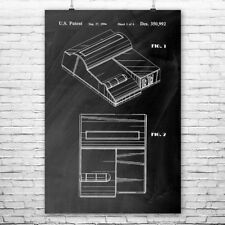 Nintendo Top Loader NES Video Game System Poster Patent Print Gift Patent Print