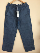 BNWT Country Road trenery Womens ladies INDIGO SPORTY PANT lyocell/linen rrp$129