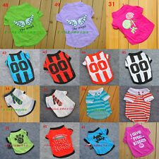 Summer Various Pet Puppy Small Dog Cat Pet Clothes Vest T Shirt Apparel 4 Size