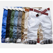 UK SELL Men's Casual Summer Cargo Combat Chino Cotton Pant Work Trousers Shorts
