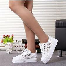 Women's Breathable Shoes Canvas Casual Lace-Up Flats Sneakers Running Shoes