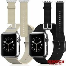 Apple Watch Buckle Wrist Band Strap Genuine Leather 42mm iWatch Metal Clasp New