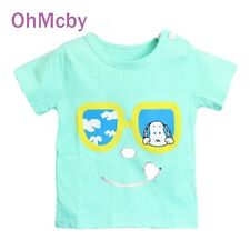 New Kids T Shirts Girls Boys Cotton Shorts Childern Cartoon Print Tops T-shirt