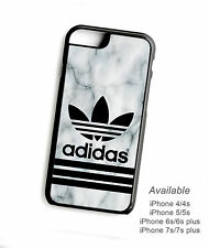 Best Design Adidas Marble White Logo Print On Hard Plastic Protector for iPhone