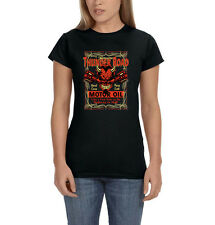 Thunder Road Motor Oil Highway To Hell Devil Motorcycle Women's T-Shirt Tee