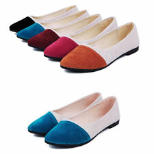 Women Spring Ballet Flats Ballerina Casual Slip On Shoes Suede Casual Style