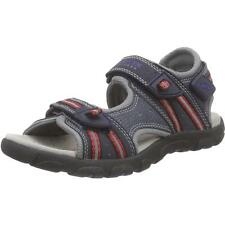 Geox Junior Strada A Navy/Red Textile Flat Sandals