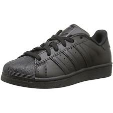 Adidas Originals Superstar Youth Black Leather Trainers