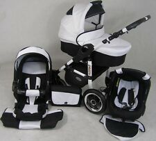 Pram Stroller Pushchair 3in1 ORION + FREE Car seat Frame WHITE + 22 colours