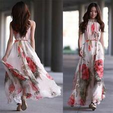 Women Chiffon Long Maxi Summer Dresses Boho Evening Party Beach Floral Sundress